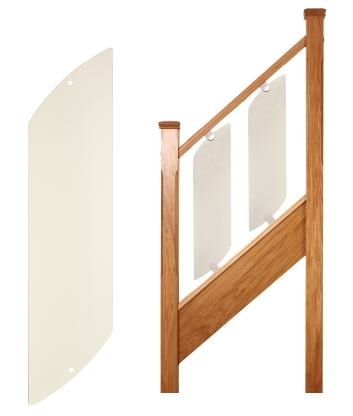 Single Glass panel for stairs
